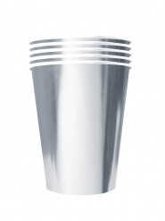 20 Bicchieri americani in cartone riciclabile argento