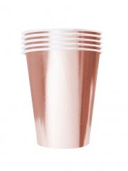 20 Bicchieri di cartone riciclabile rosa gold