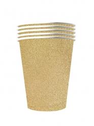 10 Bicchieri americani cartone riciclabile oro scintillante 53cl