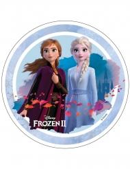 Ostia per torte Frozen 2™ Anna e Elsa