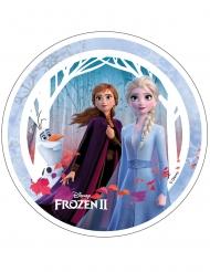 Disco di azimo Frozen 2™ Anna Elsa e Olaf 21 cm