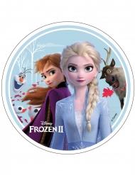 Disco di azimo Frozen 2™ Anna Elsa Olaf e Sven 21 cm