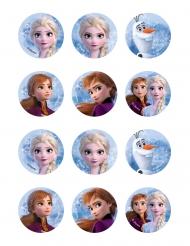 12 Decorazioni di ostia per biscotti Frozen 2™
