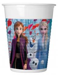 8 Bicchieri di plastica Frozen 2™ 200 ml