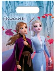 6 Buste regalo in plastica Frozen 2™ 23 x 16 cm