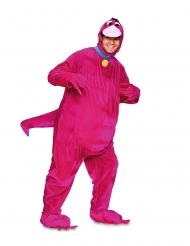 Costume gentile dinosauro rosa adulto