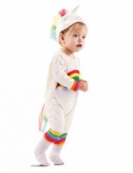 Costume da unicorno arcobaleno per neonato