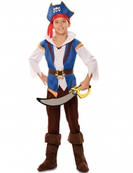 Costume da pirata blu per bambino