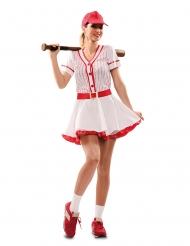 Costume giocatrice di baseball donna