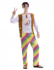 Costume da hippie arcobaleno per uomo