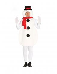 Costume pupazzo di neve adulto