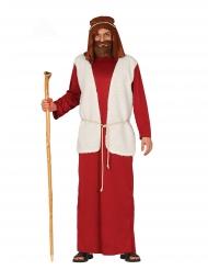 Costume da pastore in rosso adulto