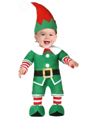 Costume da piccolo elfo di natale bebè