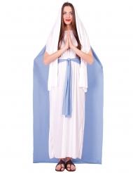 Costume vergine maria con mantello per donna