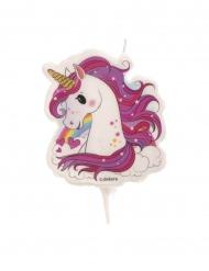 Candelina compleanno unicorno magico 7,5 cm