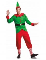Costume da elfo di Natale uomo