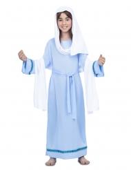 Costume da Vergine Maria blu bambina