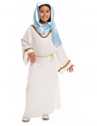Costume Vergine Maria bianca e blu bambina