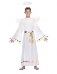 Costume angelo bianco cintura dorata bambino