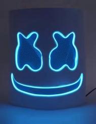Maschera da Marshmello led blu per adulto