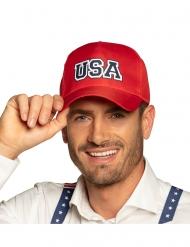 Cappello con visiera rosso USA adulto