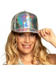 Cappello argentato iridescente adulto