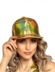 Cappello dorato iridescente adulto