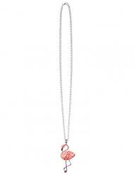 Collana in metallo fenicottero rosa adulto