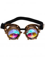Occhiali con lenti prismati steampunk adulto
