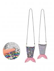 Borsa coda di sirena con zip e paillettes adulto
