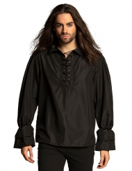 Camicia pirata nero uomo