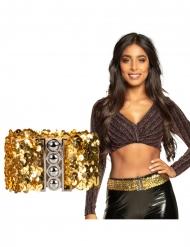 Cintura con paillettes dorate adulto