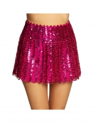 Gonna con paillettes fucsia per donna