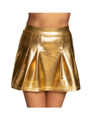 Gonna pattinatrice metallizzata oro donna