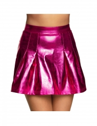 Gonna fucsia metallizzato per donna
