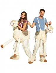 Costume uomo su lama bianco adulto