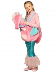 Costume sirena a cavallo di cavalluccio marino bambina