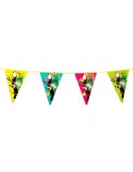 Ghirlanda di bandierine colorate con tucano