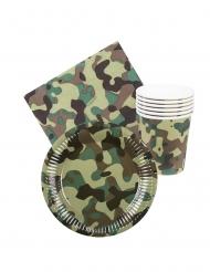 Kit tavola usa e getta militare 24 pezzi