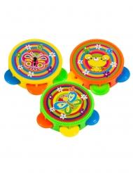 Accessori per pentolaccia: 3 tamburelli multicolori