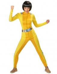 Costume da spia gialla per donna