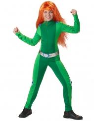 Costume da spia verde per bambina