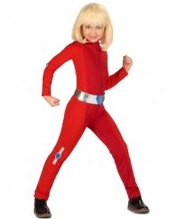 Costume da spia rossa per bambina