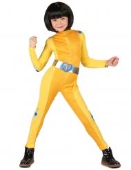 Costume da spia gialla per bambina