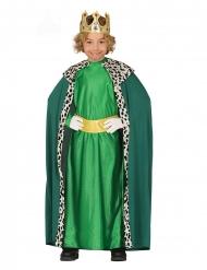 Costume re magio verde bambino