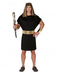 Costume da faraone nero e oro per uomo