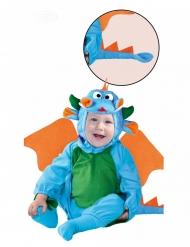 Costume da drago blu per bebè
