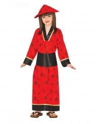 Costume kimono rosso per bambina