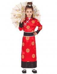Costume rosso da cinese per bambina