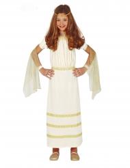 Costume bianco da romana per bambina